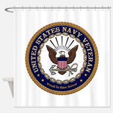 US Navy Veteran Proud to Have Served.png Shower Cu