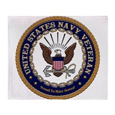 US Navy Veteran Proud to Have Served.png Throw Bla