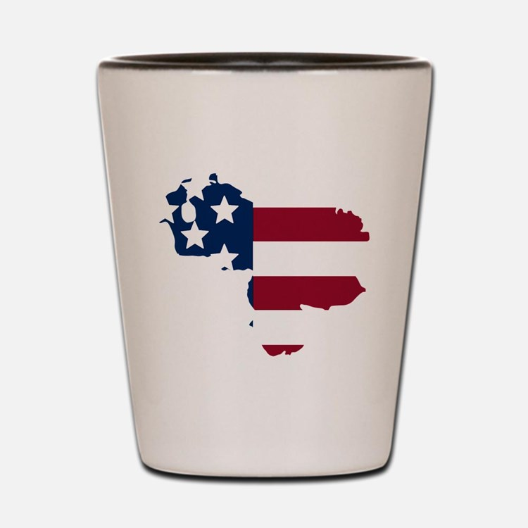 Venezuelan American Shot Glass