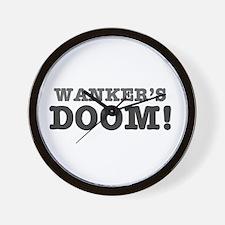 WANKERS DOOM Wall Clock