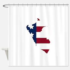 Peruvian American Shower Curtain