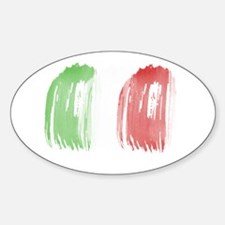 Brush Flag of Mexico Decal