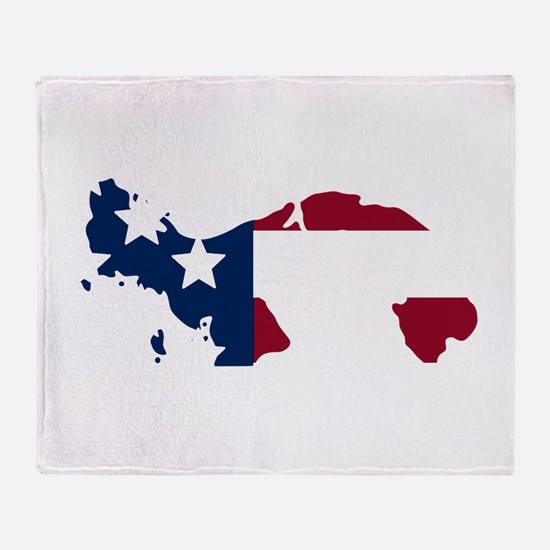 Panamanian American Throw Blanket