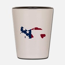 Panamanian American Shot Glass
