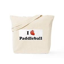 I (Heart) Paddleball Tote Bag
