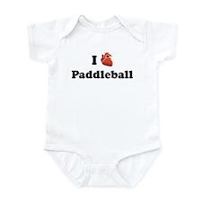 I (Heart) Paddleball Infant Bodysuit