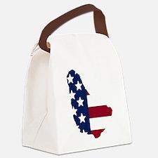 Barbadian American Canvas Lunch Bag