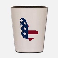Barbadian American Shot Glass