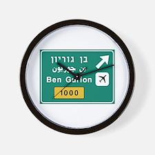 Ben Gurion Airport, Tel Aviv, Israel Wall Clock