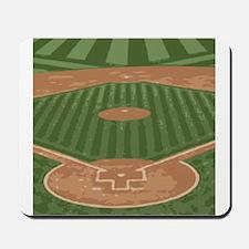 View From Home Plate Baseball Diamond Art Mousepad