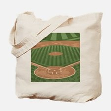 View From Home Plate Baseball Diamond Art Tote Bag