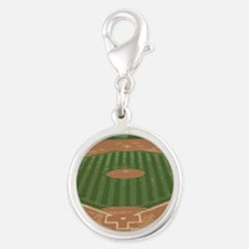 View From Home Plate Baseball Diamond Art Charms