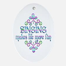 Singing Fun Oval Ornament