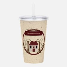 Faith Hope Love Acrylic Double-wall Tumbler