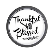Thankful and Blessed Wall Clock