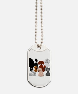 TINY POODLE PACK COLLAGE Dog Tags