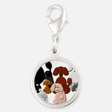 TINY POODLE PACK COLLAGE Charms