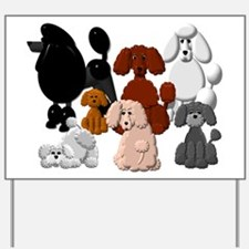 TINY POODLE PACK COLLAGE Yard Sign
