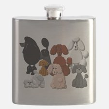 TINY POODLE PACK COLLAGE Flask