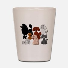 TINY POODLE PACK COLLAGE Shot Glass