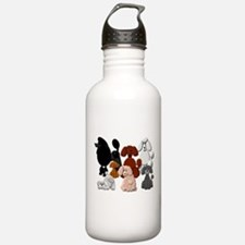 TINY POODLE PACK COLLAGE Water Bottle