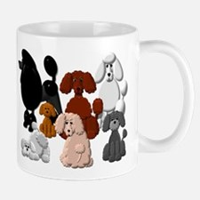 TINY POODLE PACK COLLAGE Mugs