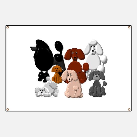 TINY POODLE PACK COLLAGE Banner