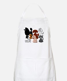 TINY POODLE PACK COLLAGE Apron