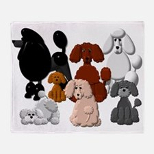 Tiny Poodle Pack Collage Throw Blanket