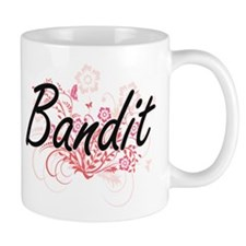 Bandit Artistic Job Design with Flowers Mugs
