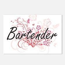 Bartender Artistic Job De Postcards (Package of 8)