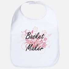Basket Maker Artistic Job Design with Flowers Bib