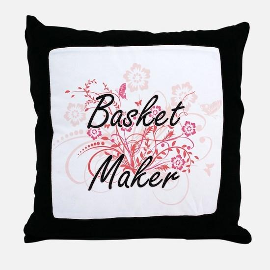 Basket Maker Artistic Job Design with Throw Pillow