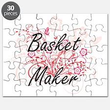 Basket Maker Artistic Job Design with Flowe Puzzle