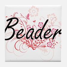 Beader Artistic Job Design with Flowe Tile Coaster