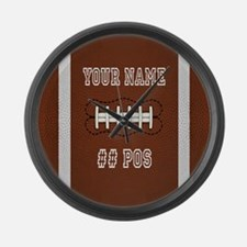 Personalized Football Boys Large Wall Clock