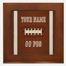 Personalized Football Boys Framed Tile