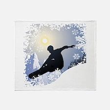 SNOWBOARDING! Throw Blanket