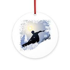 SNOWBOARDING! Round Ornament