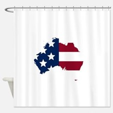Australian American Shower Curtain
