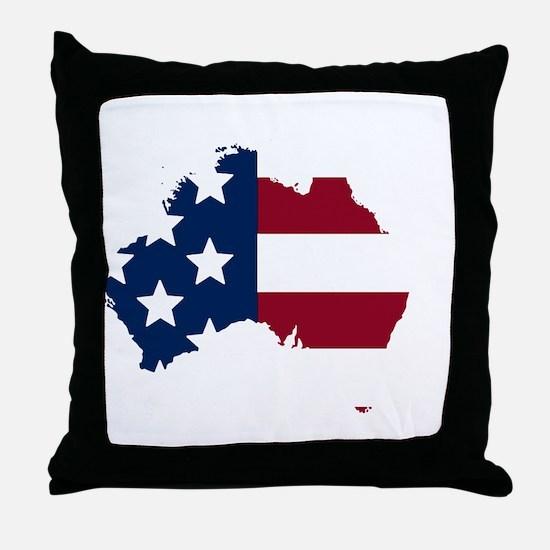 Australian American Throw Pillow