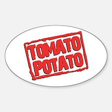 Tomato Potato Oval Decal