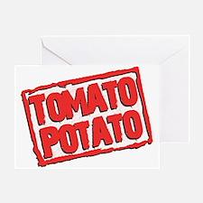 Tomato Potato Greeting Card