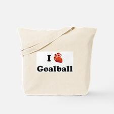 I (Heart) Goalball Tote Bag