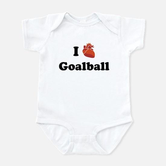 I (Heart) Goalball Infant Bodysuit