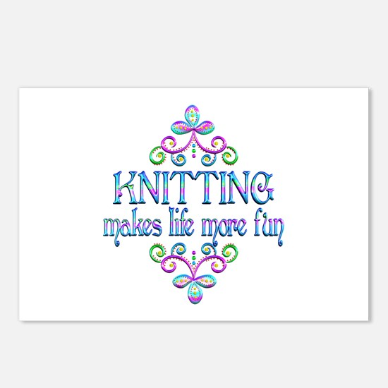 Knitting Fun Postcards (Package of 8)