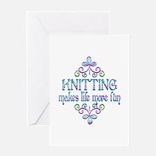 Knitting Fun Greeting Card