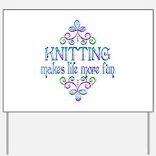 Knitting Fun Yard Sign