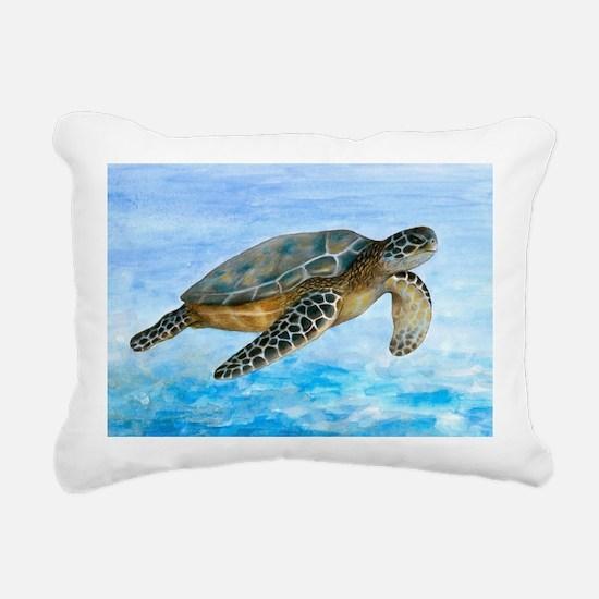 Turtle 1 Rectangular Canvas Pillow