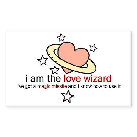 Love Wizard Rectangle Sticker